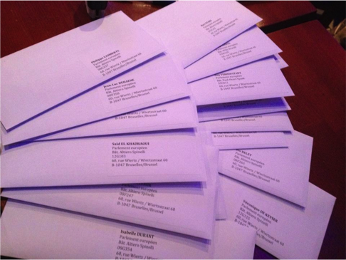 Our letters to the MEP's