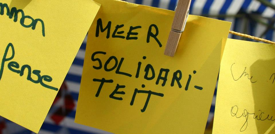 Another wish for solidarity, only this time in Flemish