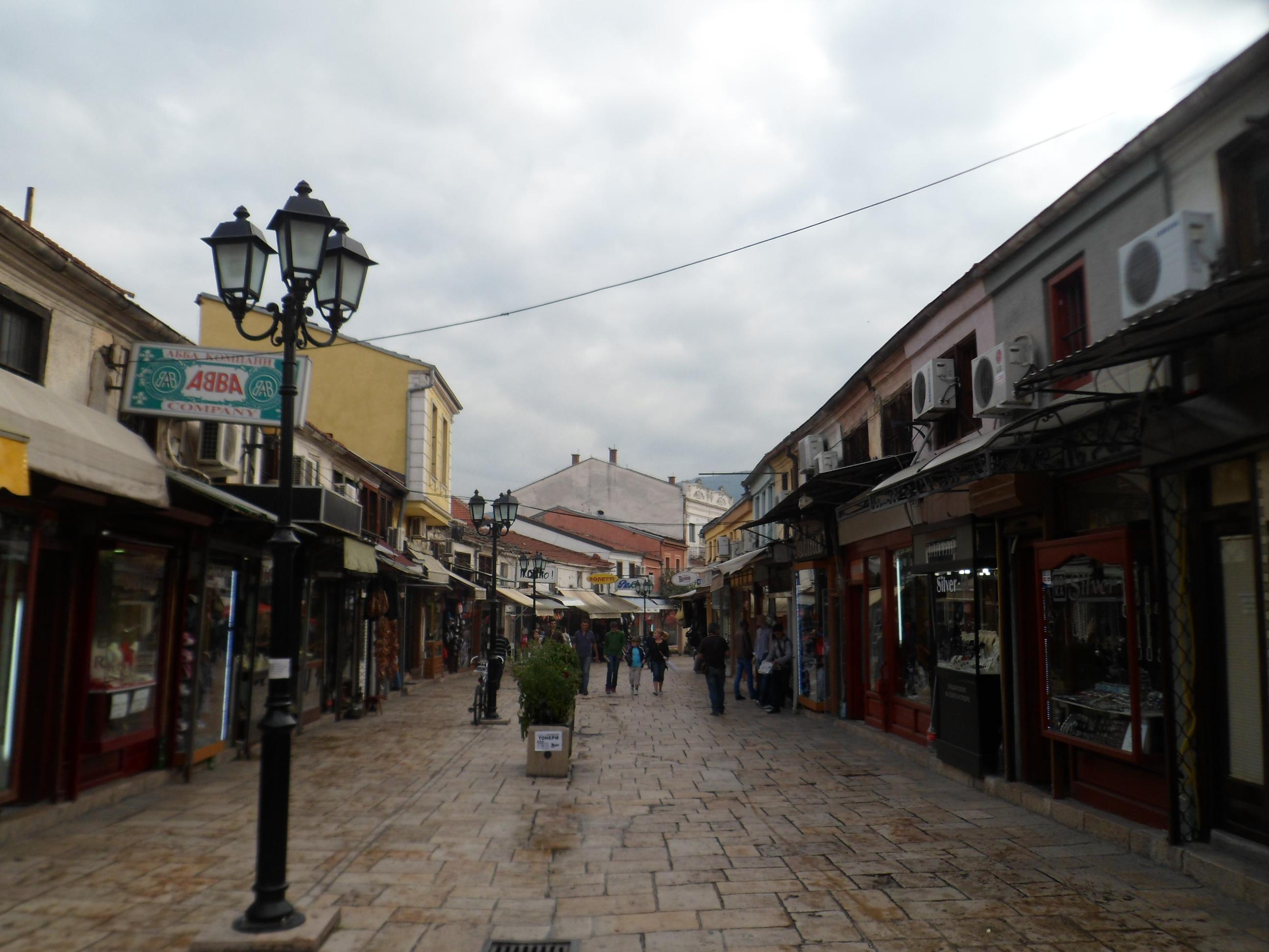 Skopje straat