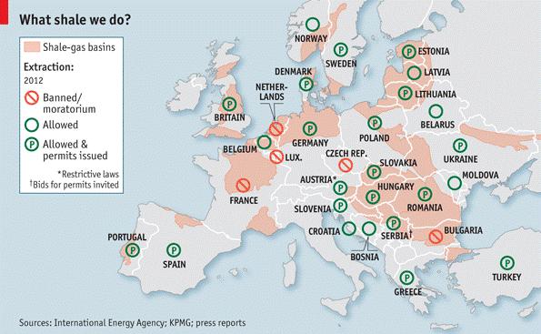 2 - European shale gas basins map