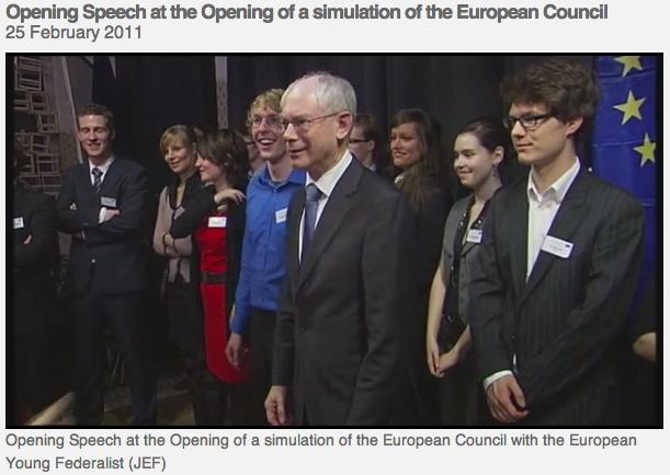 Simulation Herman Van Rompuy